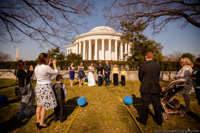 Jefferson Memorial Wedding Ceremony Officiant, Washington DC