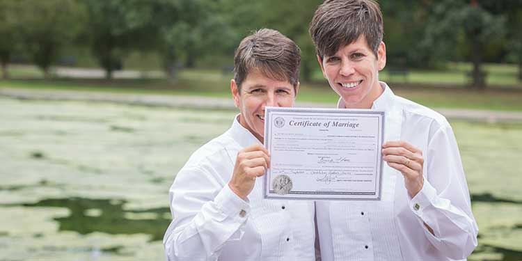 Washington DC Lesbian Marriage Certificate